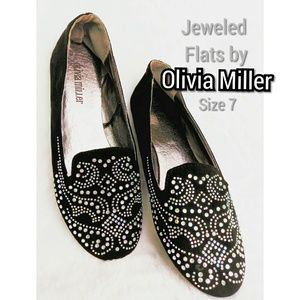 Jeweled Flats by Olivia Miller size 7